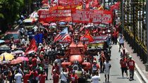 Peringati May Day di Filipina, Ribuan Demonstran Memprotes Duterte