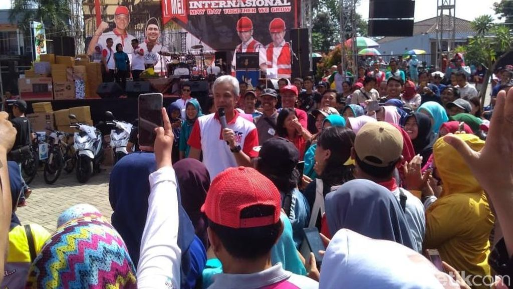 Ganjar: May Day, Buruh Jadi Raja Sehari