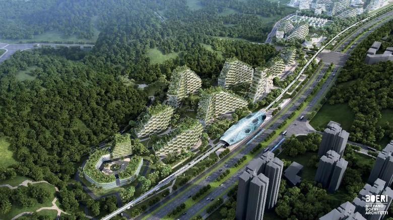 Kota Liuzhou di China (Stefano Boeri Architetti)