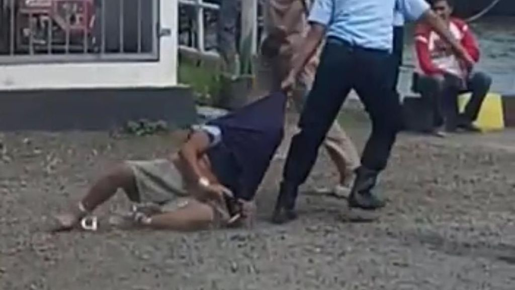 Heboh! Tahanan Narkoba Diseret di Nusakambangan