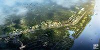 Kota direncanakan akan tertutup dengan berbagai tanaman (Stefano Boeri Architetti)