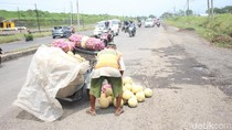 Banjir di Porong Lama Surut, Lubang di Jalan Jadi Masalah Baru