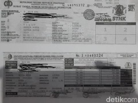 Pajak Motor Listrik Bekasi