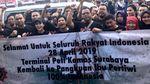 Begini Aksi May Day Pekerja Pelabuhan di Surabaya
