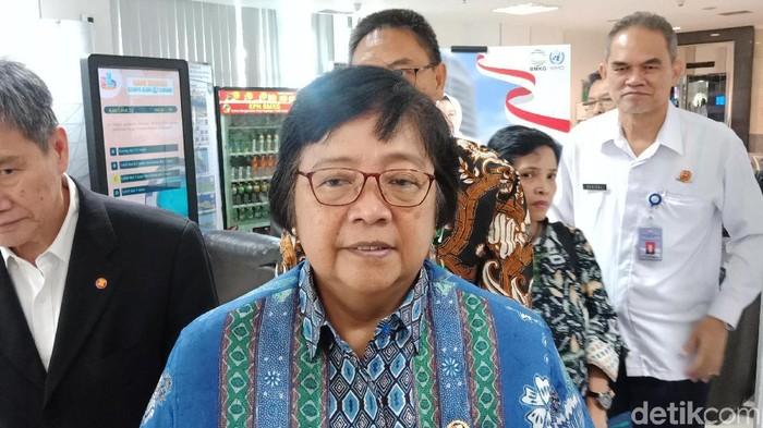 Menteri LHK Siti Nurbaya (Foto: Eva/detikcom)