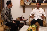 AHY bertemu Jokowi di Istana (