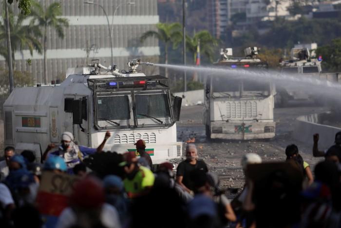 Kerusuhan di Venezuela (Foto: REUTERS/Ueslei Marcelino)