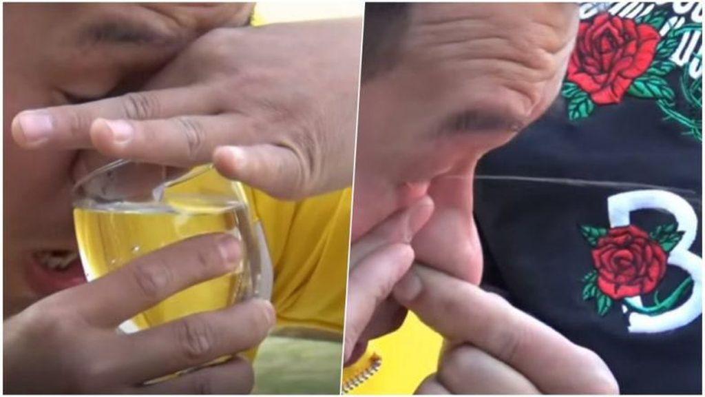 Keren! Ahli Kung Fu Ini Minum Air Lewat Hidung dan Keluar Dari Mata