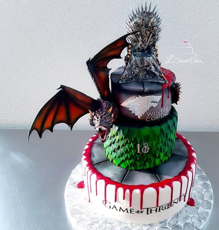 Berbagai objek dalam serial Game of Thrones yang bisa dihadirkan sebagai dekorasi cake. Dengan kreatifitas para seniman kuliner, kue-kue ini hadir dengan tampilan yang unik. Foto: istimewa