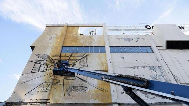 Jadi Daya Tarik Publik, Mural di Duta Merlin Harmoni Tak Akan Dihapus