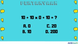 Beberapa teka-teki matematika ini akan menguji ketelitian otak. Buktikan kalau otak kamu masih tajam tidak kalah dengan soal yang bisa dipecahkan anak-anak.