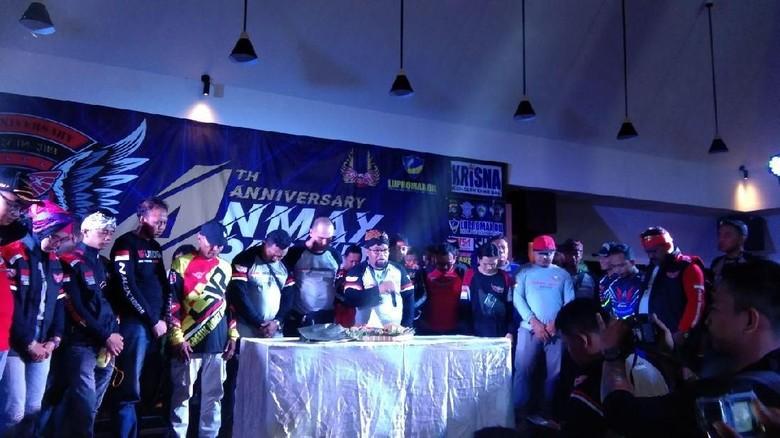 Nmax Riders rayakan ulang tahun ke empat di Bali Foto: Dok. Nmax Riders