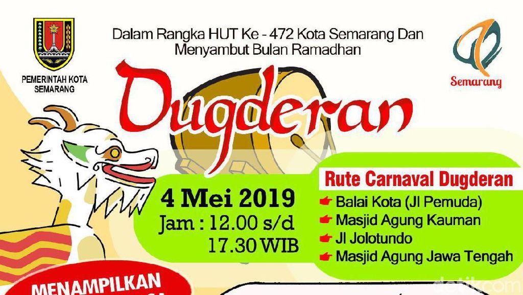 Ada Dugderan, Jalan Pemuda Semarang Ditutup Siang Nanti