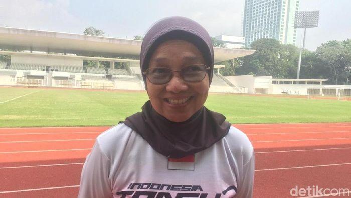 Eni Nuraini, pelatih atletik  (Mercy Raya/detikSport)