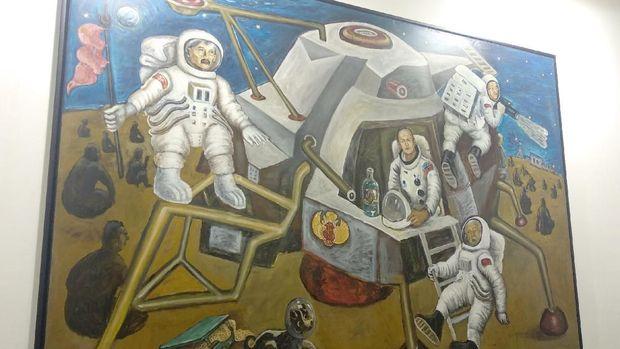Raden Saleh hingga Affandi Terbang ke Bulan Nonton Wayang Kulit