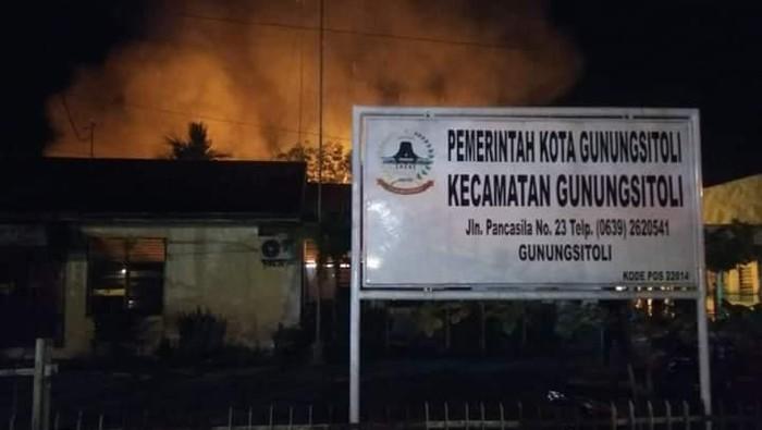 Foto: Gudang penyimpanan kotak suara di Kecamatan Gunungsitoli, Sumatera Utara. Dok. Istimewa