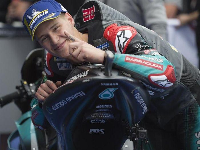 Pebalap Petronas Yamaha SRT, Fabio Quartararo. (Foto: Jorge Guerrero / AFP)