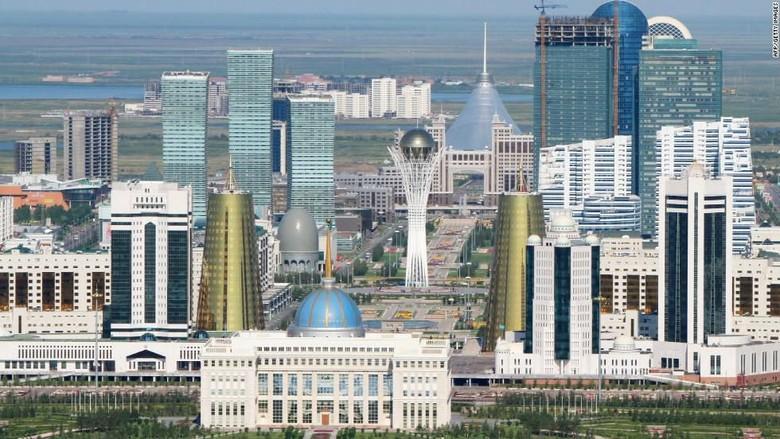 Ibukota Astana di Kazakhstan (CNN/Daisy Carrington)