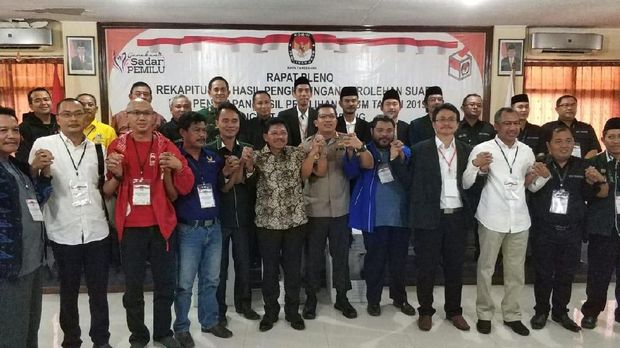 Rapat pleno rekapitulasi hasil suara pemilu 2019 di Kota Tangerang.