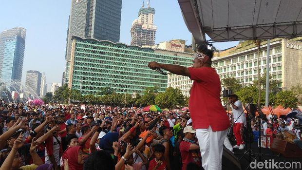 Sosialisasi Bela Negara di CFD, Menhan: Tidak Ada Lagi 01 dan 02