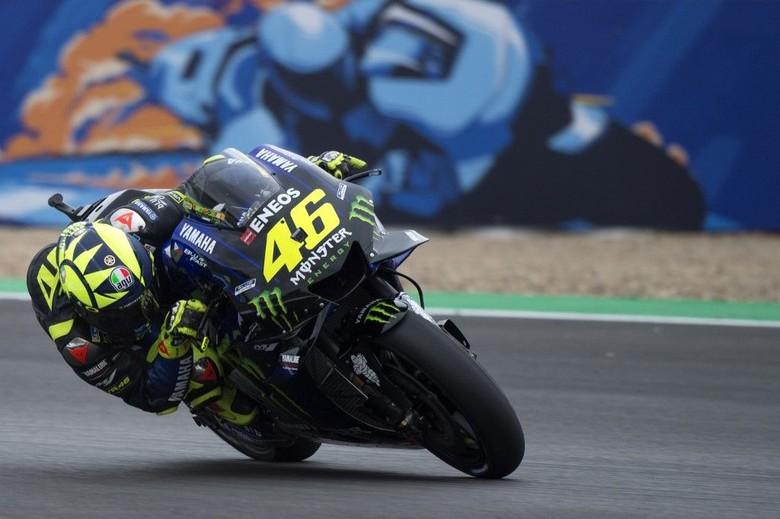 Valentino Rossi di Sirkuit Jerez. Foto: Jorge Guerrero / AFP