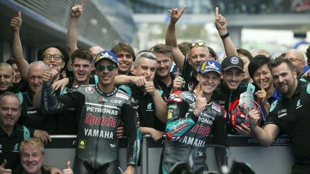 Fabio Quartararo dan Franco Morbidelli start di posisi pertama dan kedua MotoGP Spanyol 2019.