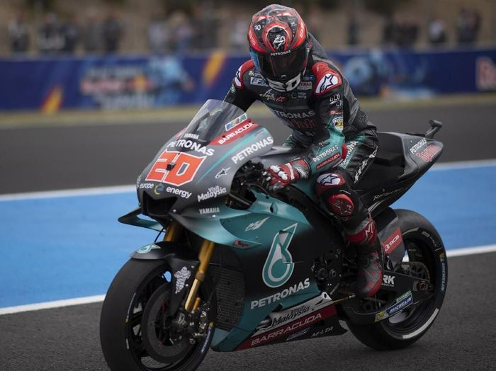 Pebalap Petronas Yamaha SRT, Fabio Quartararo. (Foto: Mirco Lazzari gp/Getty Images)