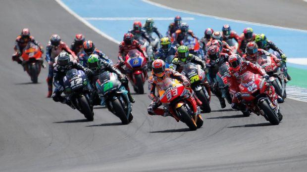 Marquez terdepan di MotoGP Spanyol. (