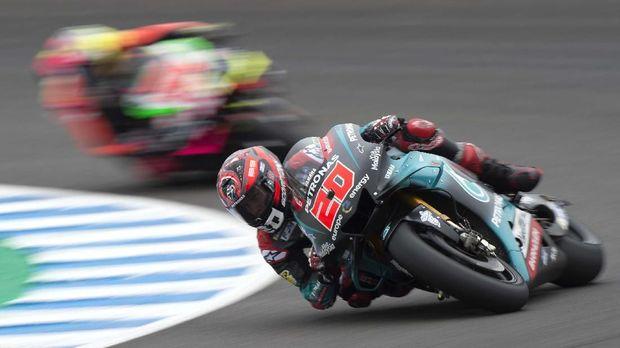 Fabio Quartararo saat kualifikasi MotoGP Spanyol 2019.