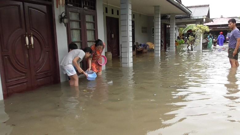 Taman Sari Daerah Terparah yang Terendam Banjir di Pangkalpinang