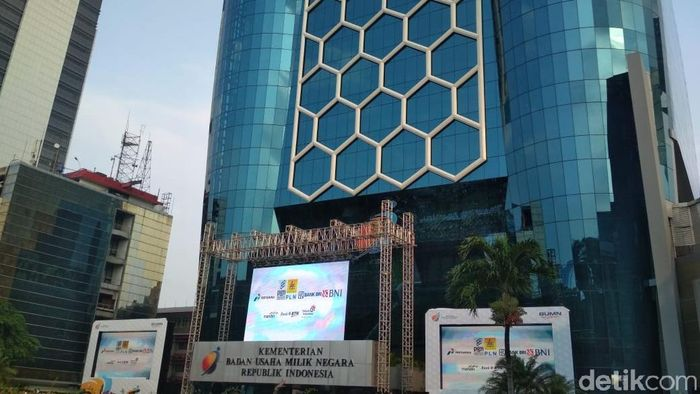 Gedung Kementerian BUMN/Foto: Hendra Kusuma-detikFinance