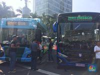 Wow! TransJakarta Luncurkan Bus Listrik