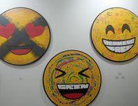 Uniknya Ragam Emoticon di Lukisan-lukisan 3D Mochtar Sarman