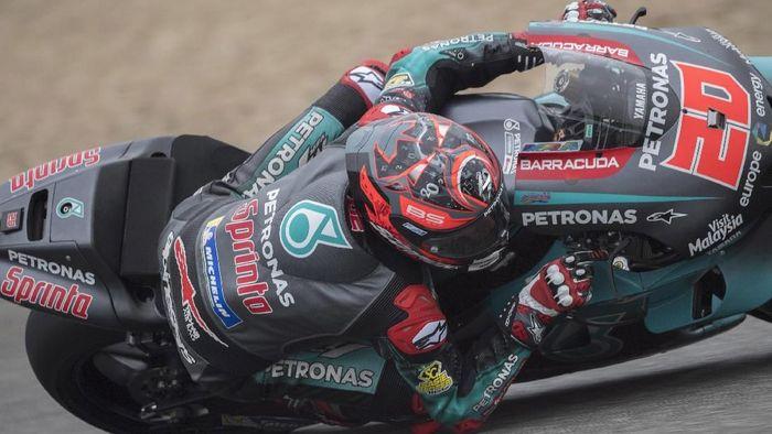 Fabio Quartararo tercepat di tes tengah musim Jerez. (Foto: Mirco Lazzari gp/Getty Images)
