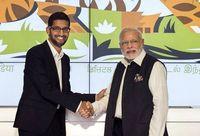 CEO Google Sundar Pichai bertemu dengan PM India Narendra Modi.