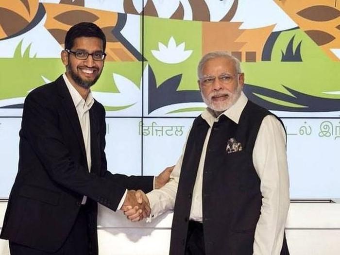 Sundar Pichai dan PM India, Narendra Modi. Foto: Istimewa