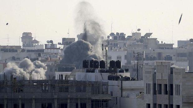 Jalur Gaza kembali dibombardir Israel. (
