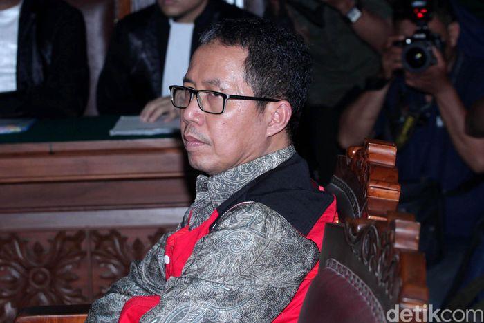 Joko Driyono saat jalani sidang perdana di Pengadilan Negeri Jakarta Selatan, Senin (6/5/2019).
