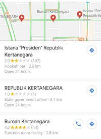 Heboh 'Istana Presiden Kertanegara' di Google Maps