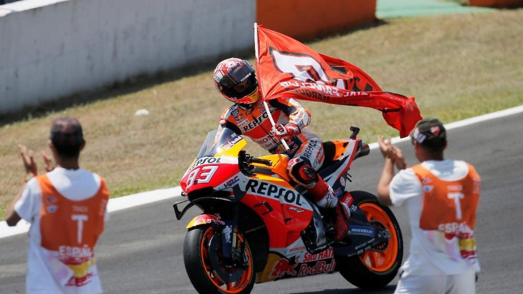 Tampil Dominan, Marc Marques Juara MotoGp Spanyol