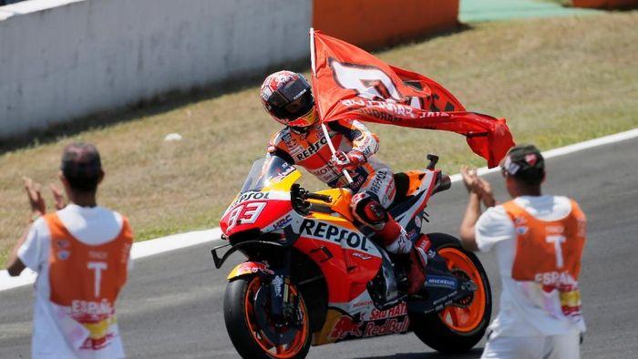 Marc Marquez juara MotoGP Spanyol. (Foto: Jon Nazca/REUTERS)