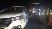 Sebuah MPV Tabrak Truk di Tol Paspro, 6 Penumpang Selamat