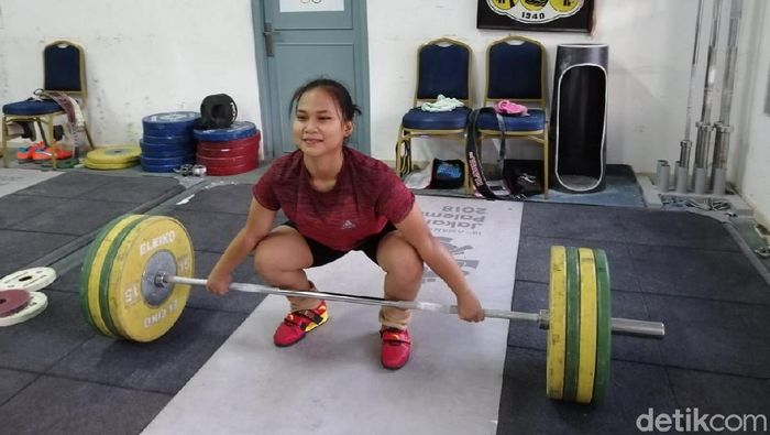 Lifter muda, Juliana Klarisa (Mercy Raya/detikSport)