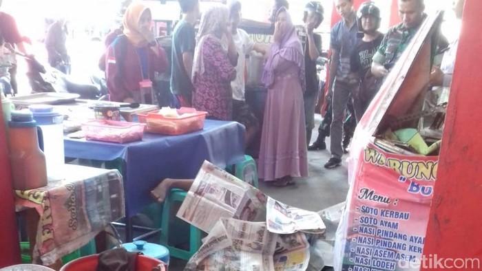 Pemuda tewas jatuh dari lantai 4 usai pesta miras di Kudus (Foto: dok. warga)