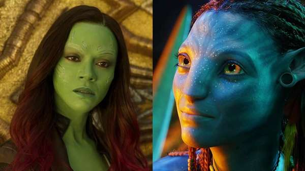 Hijau dan Biru Zoe Saldana di Film Paling Laris Sedunia