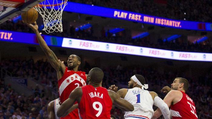 Toronto Raptors mengalahkan Philadelphia 76ers. (Foto: Mitchell Leff / Getty Images)
