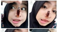 Tantangan Foto Selfie Bareng Kecoak Jadi Viral, Jijik Nggak Sih?