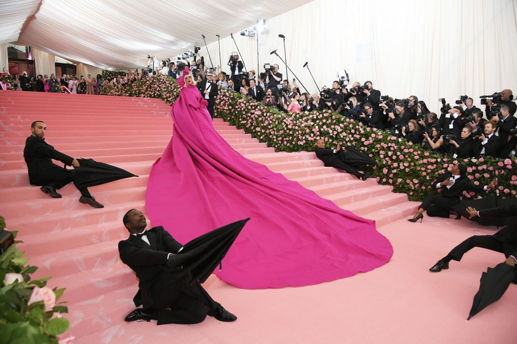 NEW YORK, NEW YORK - MAY 06:  A view of Lady Gaga's wagon at The 2019 Met Gala Celebrating Camp: Notes on Fashion at Metropolitan Museum of Art on May 06, 2019 in New York City. (Photo by Jamie McCarthy/Getty Images)