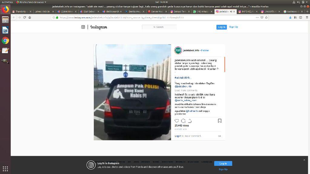 Begini Awal Mobil Striker Ampun Pak Polisi Uang Kami Habis Ditilang
