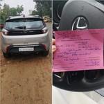 Kocak, Pengemudi Mobil Ditilang karena Tak Pakai Helm